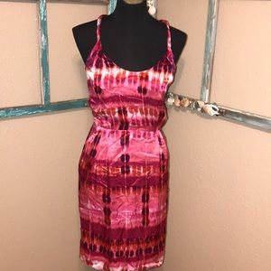BANANA REPUBLIC SILK HALTER DRESS W POCKETS🌺🌺🌺